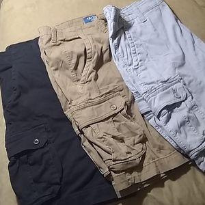 Lot of 3 Arizona cargo shorts